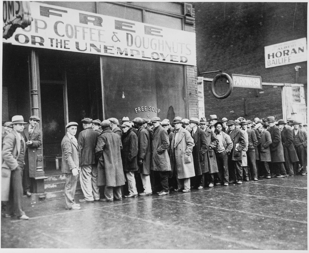 1249px-Unemployed men queued outside a depression soup kitchen opened in Chicago by Al Capone 02-1931 - NARA - 541927-1024x839