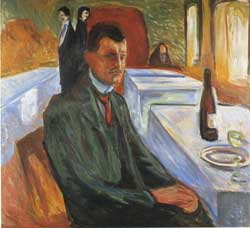 munch-man drinking wine